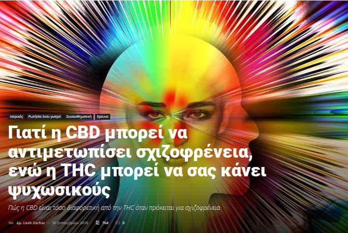Μπορεί η CBD να Αντιμετωπίσει τη Σχιζοφρένεια και η THC να σας Κάνει Ψυχωσικούς ; 1